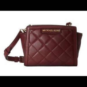 Michael Kors Selma Quilted Mini Messenger Bag